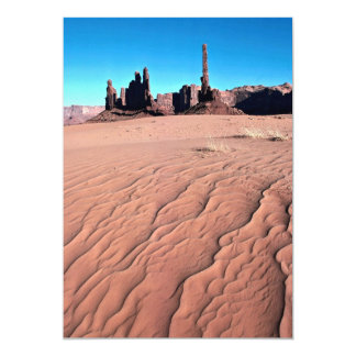 Sand dunes at Yei-be-chai formations, Monument Val 5x7 Paper Invitation Card