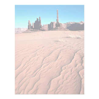 Sand dunes at Yei-be-chai formations, Monument Val Letterhead Template