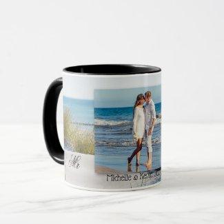 Sand Dunes Beach Photo Wedding Mug