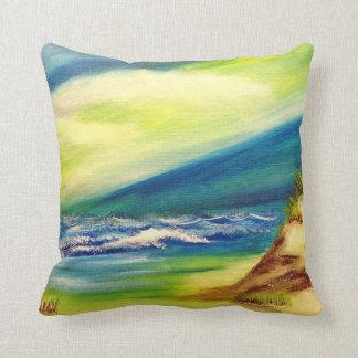 Sand Dunes beach throw pillow