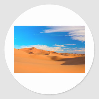 Sand Dunes Classic Round Sticker