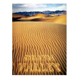 Sand Dunes, Death Valley, California Postcard