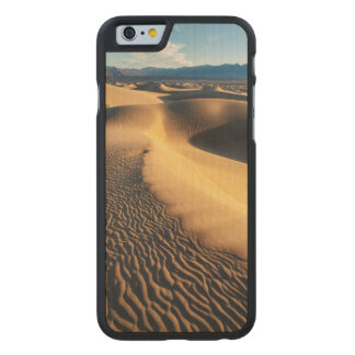 Sand dunes in Death Valley, CA Carved Maple iPhone 6 Case