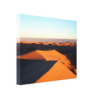 Sand dunes in the desert canvas print