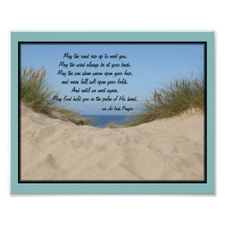 Sand Dunes Irish Prayer Poster
