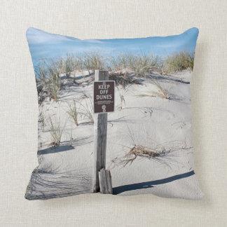 Sand dunes on Cape Cod Throw Pillow