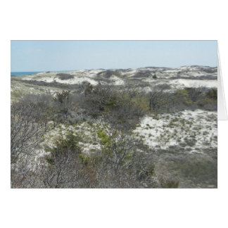 Sand Dunes on Sandy Neck Beach on Cape Cod Card