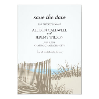 Sand Dunes    Save the Date 5x7 Paper Invitation Card