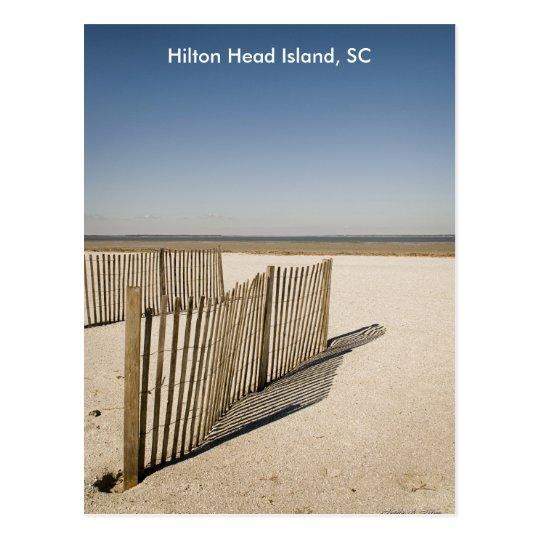 Sand Fence 2008, Hilton Head Island, SC Postcard