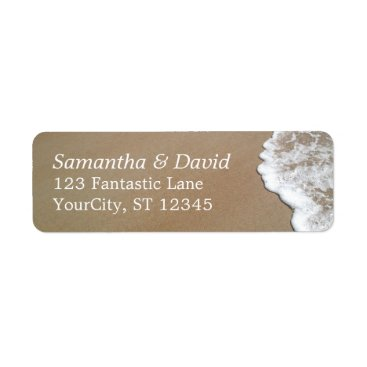 PaperMuserie Sand & Foam Beach Photo Wedding 2 Label