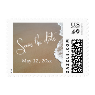 Sand & Foam Beach Wedding Save the Date 1b Postage