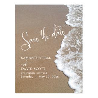 Sand & Foam Beach Wedding Save the Date 1b Postcard