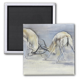Sand Gazelles 2009  3 2 Inch Square Magnet