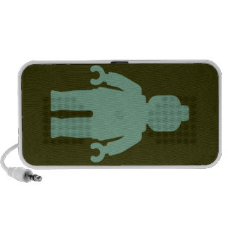 Sand Green Minifig by Customize My Minifig Portable Speaker