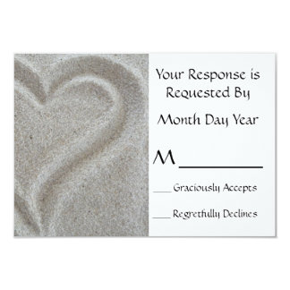 Sand Heart RSVP Card