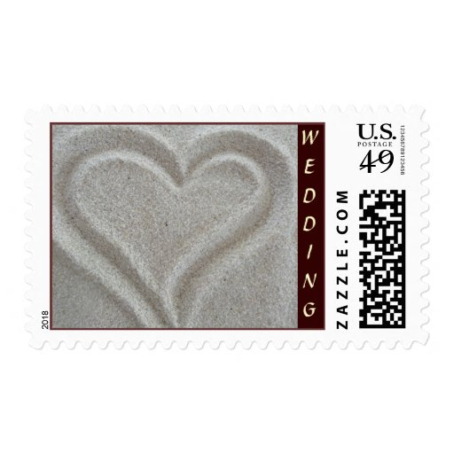 Sand Heart Wedding Collection Postage Stamp