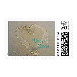 Sand * Heart * Wedding - Customizable! Postage