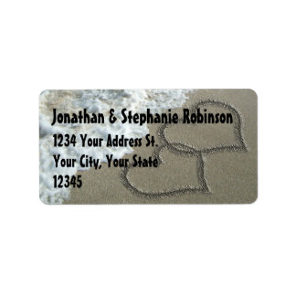 Sand Hearts Beach Address Label