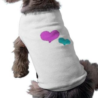 Sand Hearts dog shirt