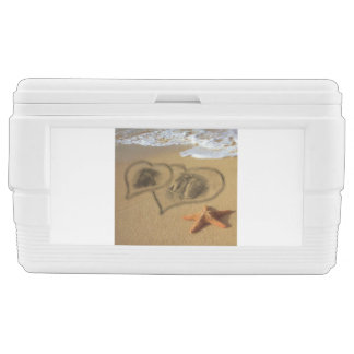 Sand Hearts Ice Chest