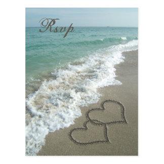 Sand Hearts on the Beach RSVP Card