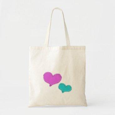 Beach Themed Sand Hearts tote bag