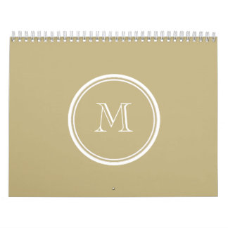 Sand High End Colored Personalized Calendar