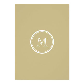 Sand High End Colored Personalized 5x7 Paper Invitation Card