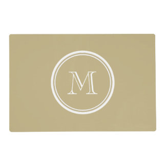 Sand High End Colored Personalized Placemat