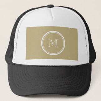 Sand High End Colored Personalized Trucker Hat