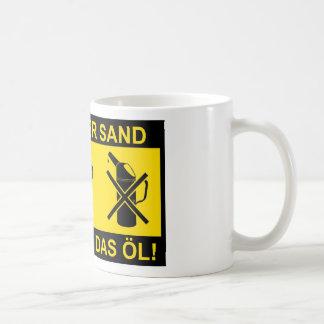 Sand im Getriebe Kaffee Tasse
