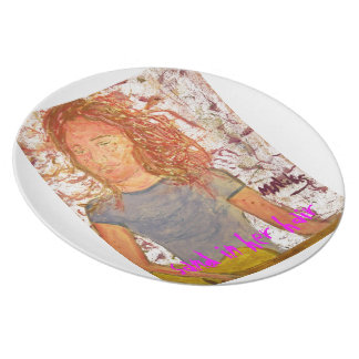 sand in her hair dinner plate
