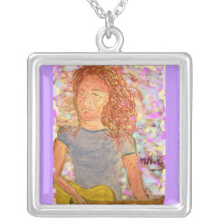 sand in her hair square pendant necklace