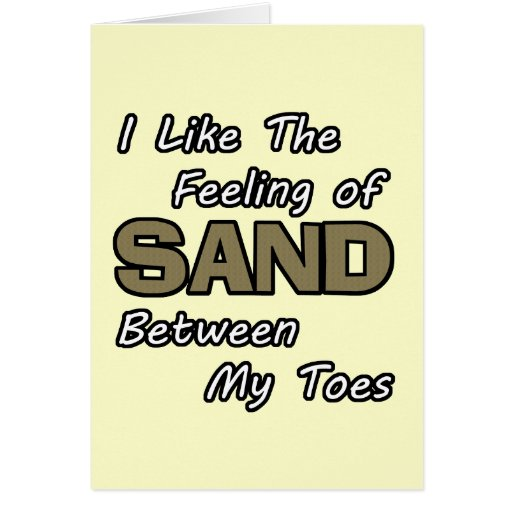 Sand in Toes Card