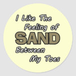 Sand in Toes Stickers