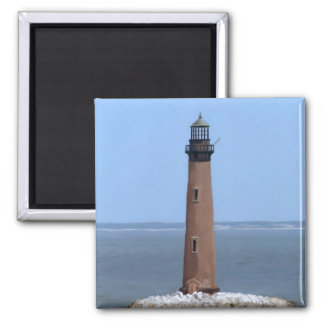 sand island lighthouse 2 inch square magnet