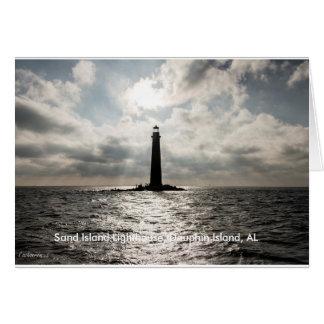 Sand Island Lighthouse 5 x 7 Greeting Card