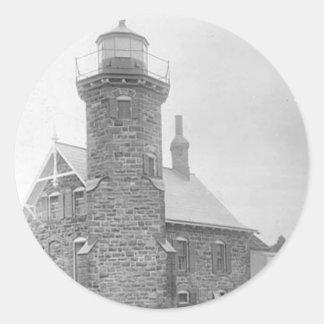 Sand Island Lighthouse Round Stickers