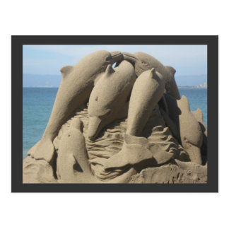 Sand Made Dolphins Postcard