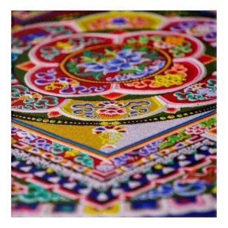 Sand Mandala Acryllic Wall Art