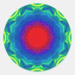 Sand Mandala Classic Round Sticker
