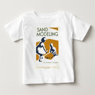 Sand Modeling for Younger Children Baby T-Shirt