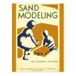 Sand Modeling for Younger Children Post Card