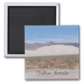 Sand Mountain Fallon, Nevada 2 Inch Square Magnet