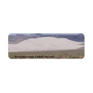 Sand Mountain Fallon, Nevada Label