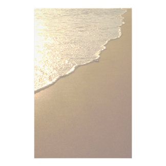 Sand on the Beach and Ocean Stationery