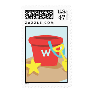 Sand Pail and Shovel Postage