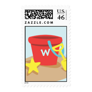 Sand Pail and Shovel Stamp