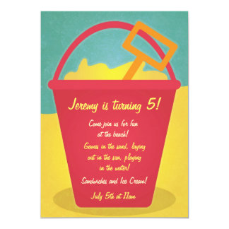 Sand Pail Beach Party Invitation