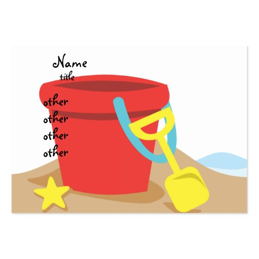 Sand Pail Business Card Template